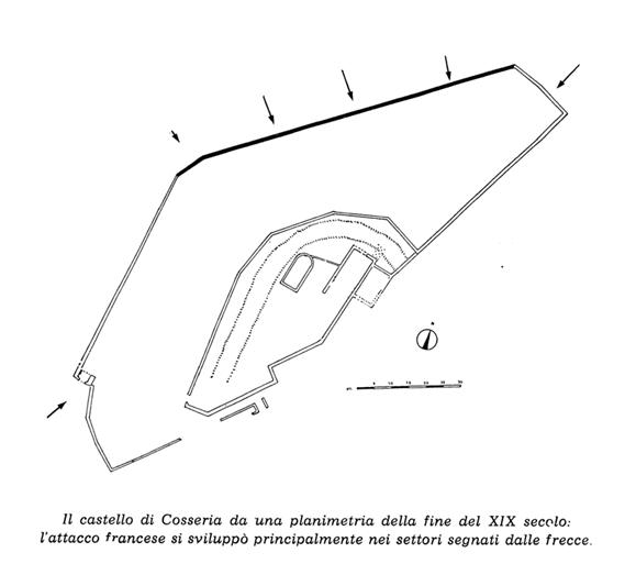 Plan of Cosseria castle in 1796.