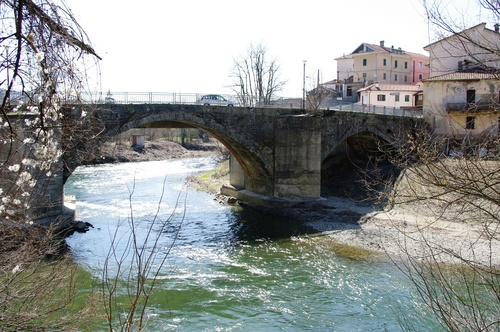 Bridge crossing the Bromida river at Dego.