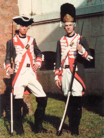 Re-enacter Sardinian Piedmont grenadiers at Cosseria
