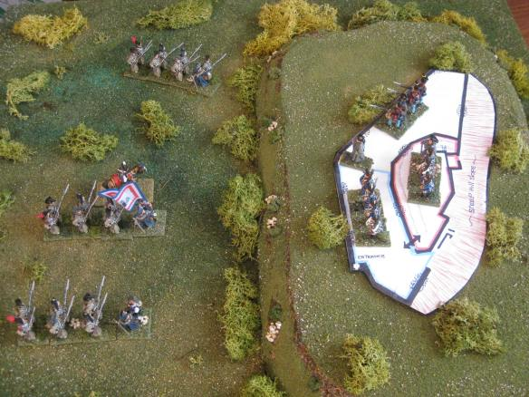 1st Assault segment set up. Cosseria castle April 1796 storming scenario.