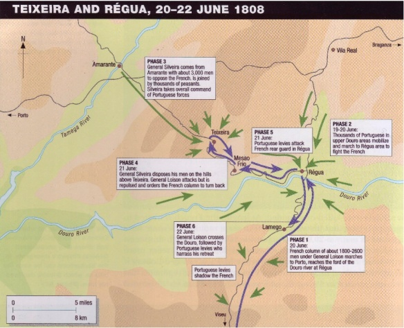 Battle of Teixeira June 1808 map