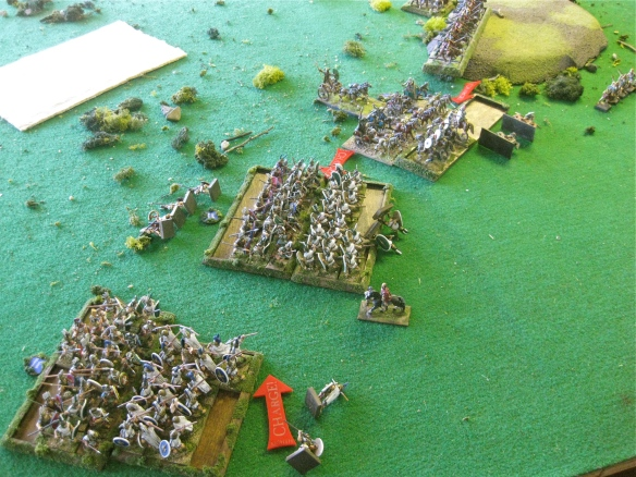 This isn't going well for the Samnites but the Italian light chariots work the Spanish cavalry over.