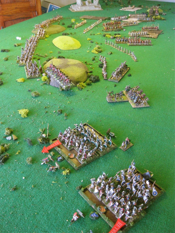 Chariots win and crush the Spanish as the Samnites fight the losing battle (lucky dice rolls).
