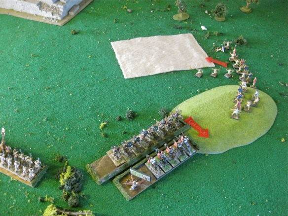 All hung up.... it's a Roman cavalry fight... as the temple skirmishers get whipped.