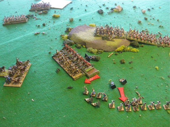 With the Samnites fleeing, the Citizen cavalry slashing away, the chariots wheel for the final blow.