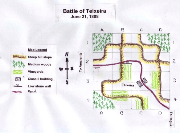 Battle of Teixeira June 1808 scenario map