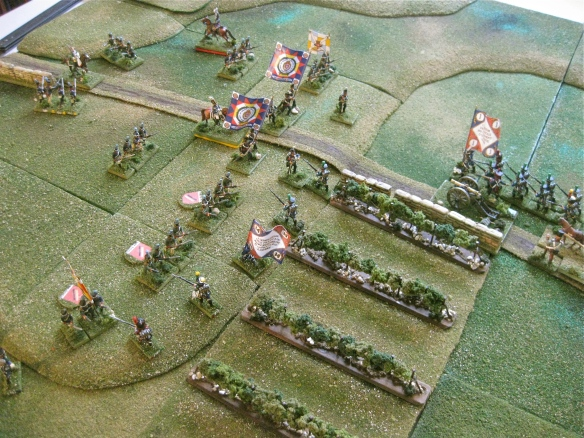 French skirmishers advance up the steep hillside as the Portuguese organized Ordenanza militia rapidly become low on ammunition.