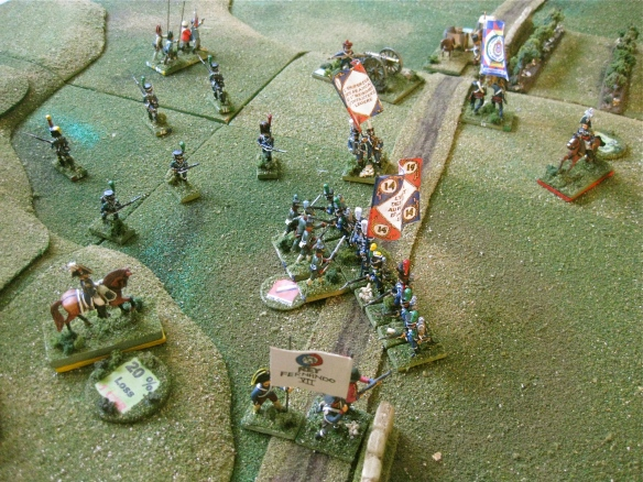 As General Silviera watches, his last Ordenanza unit is soon crushed by the victorious French legere battalion.