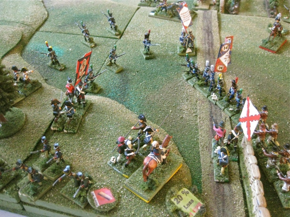 With only some poorly armed pike Ordenanza infantry contesting the field, the French advance.
