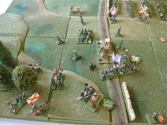 Final moments.... the French have cleared the road as the wagons advance. French minor victory.