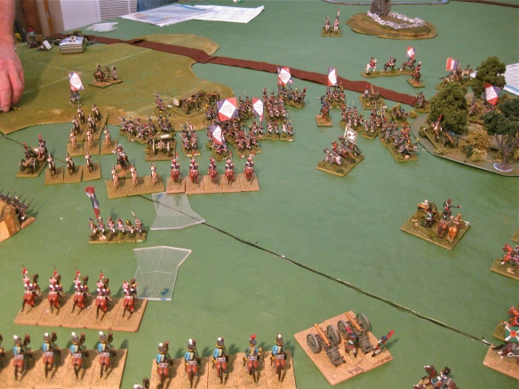 After shattering the French infantry, the Russian cavalry see a void of Frenchmen.