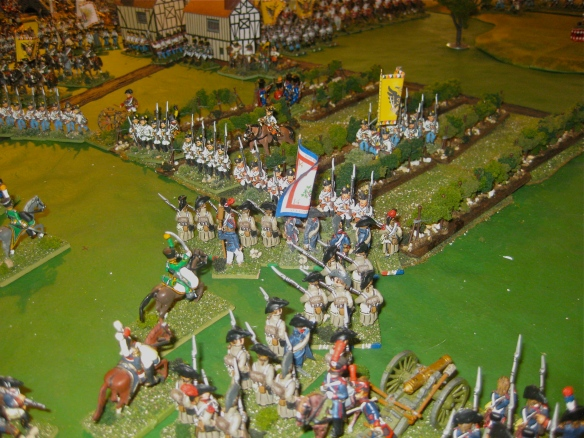 Having cleared the Austrian screens, the columns assault the linear Austrians defending the vineyard.