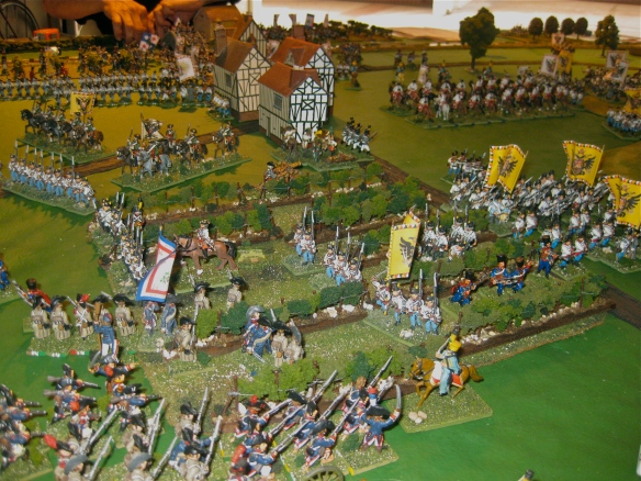 Having broken the initial Austrian defense, the French enter the vineyard. But Daniel calls for his grenadiers and they are marching to counterattack the vineyard French.