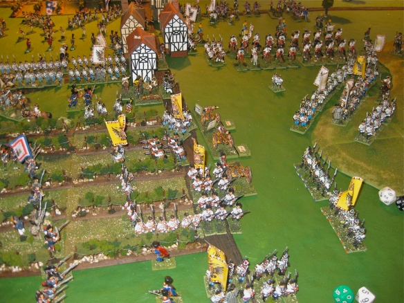 The Austrian grenadiers have secured the army's retreat and enter the vineyard position.