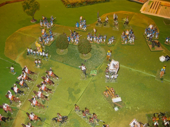 The end of actions on the northern or former Austrian right flank... just some skirmishing actions.