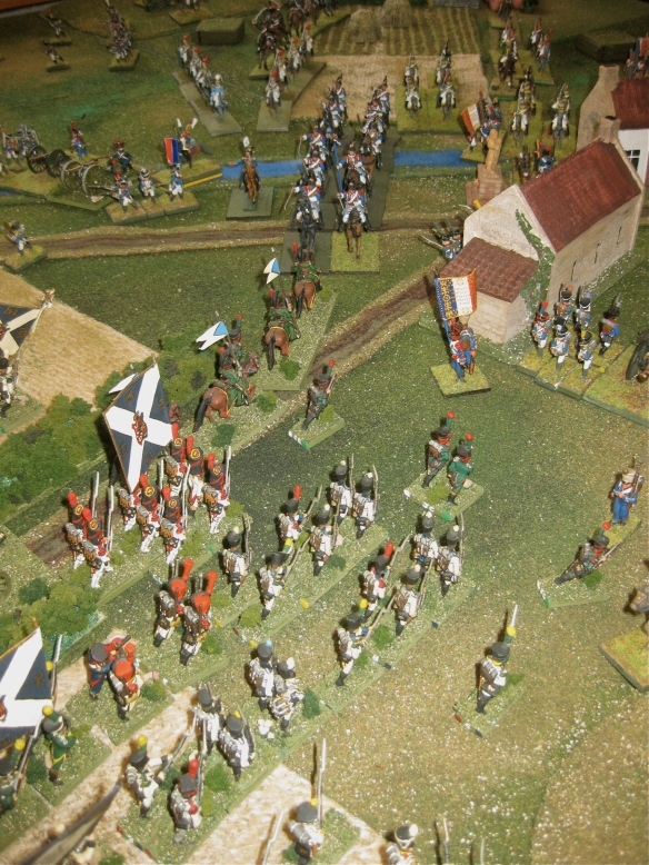 The cuirassiers chase away the Westphalian hussars (after losing a french battery). but the brave Westphalian guard chevau-legers charges the combined cuirassier regiments... and wins.