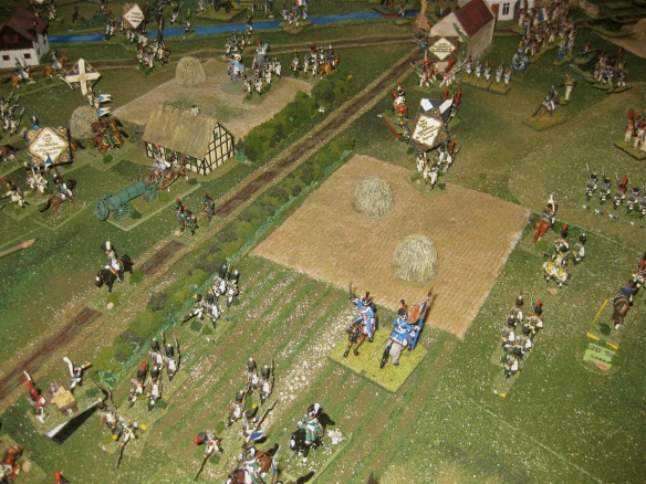 After the charges... the Westphalian center is broken and scattered with several battalions run down.
