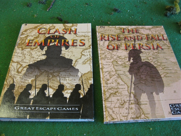The Clash of Empires COE rules and Persian wars supplement book.