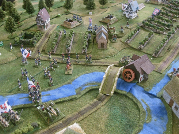 GD La Harpe's infantry locate the shallow river ford and quickly cross to opposite bank.