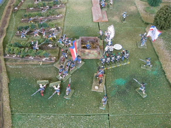 Surprise. Heroic unit event card played and the Austrian battalion defeat the French assault attempts.