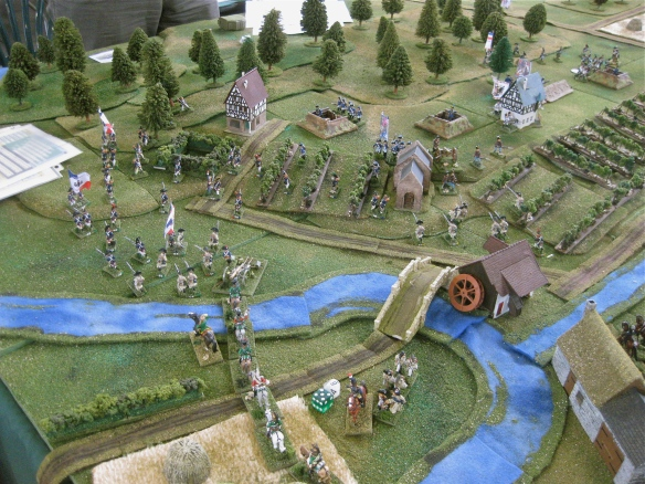 GD Stengel's French dragoons arrive and follow the advancing GD La Harpe's infantry towards Plano.