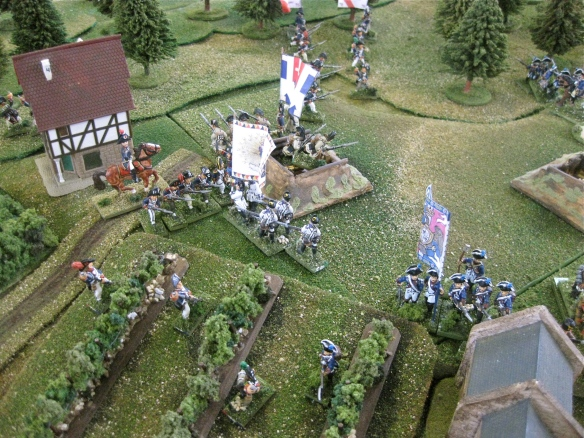 Closeup view of IR #50 Stain's counterattack into the French column flank.