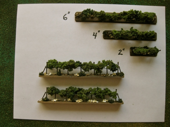 "Three sizes of vine models; 6"", 4"", and 2"" lengths. Use depends on the underlying terrain mat used."