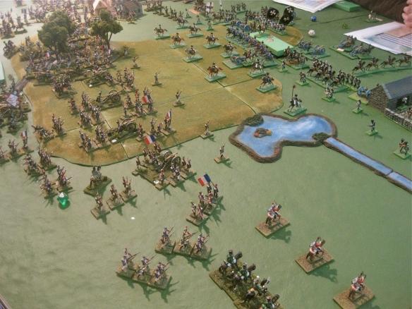 On French right flank John engages the Prussians under Dave and Andy.