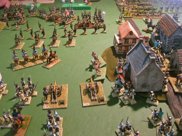 Very brave charge... KGL light dragoons seize a Dutch 12lb battery. Dutch infantry occupy the central town.