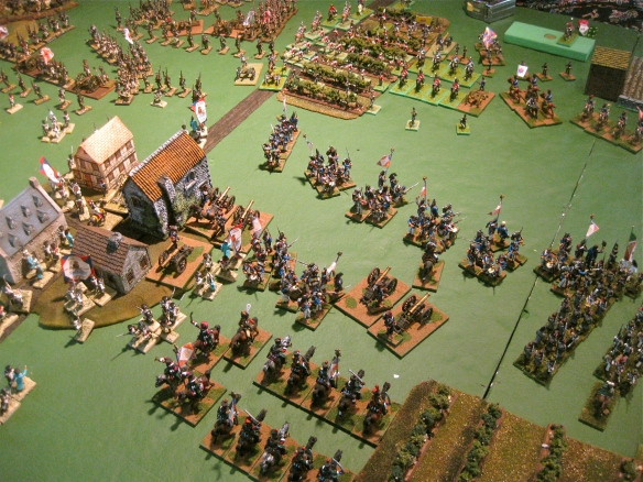 Facing British and Portuguese cavalry, Bob's French form several squares while support ing Italian general advance.