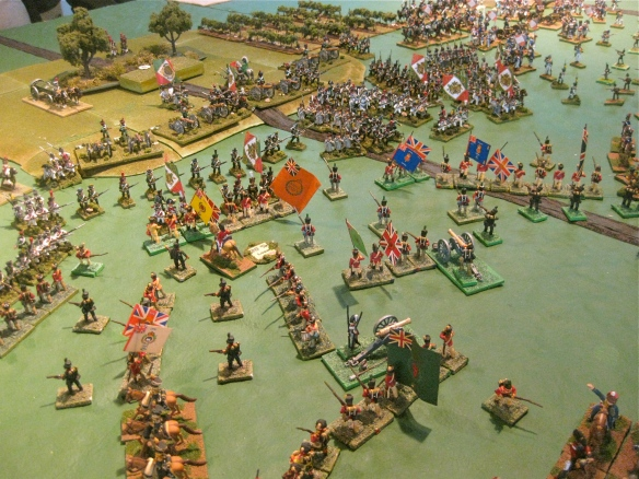 British are attempting to hold back the massed approaching Italian columns.