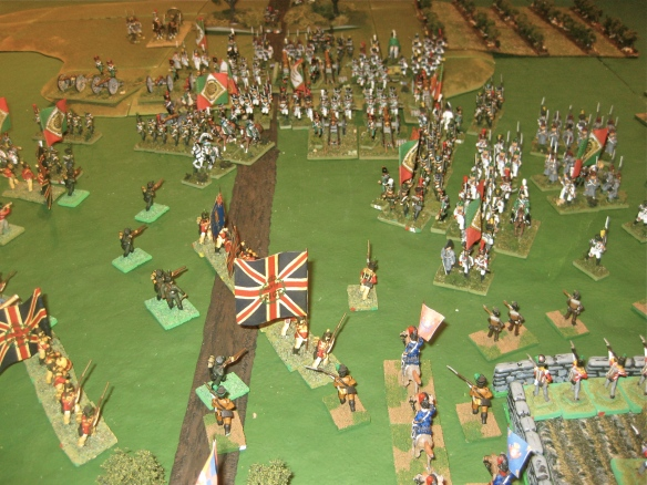 British won the first column vs. linear combat with assistance from a timely Portuguese cavalry charge. WR's Italians will be back...
