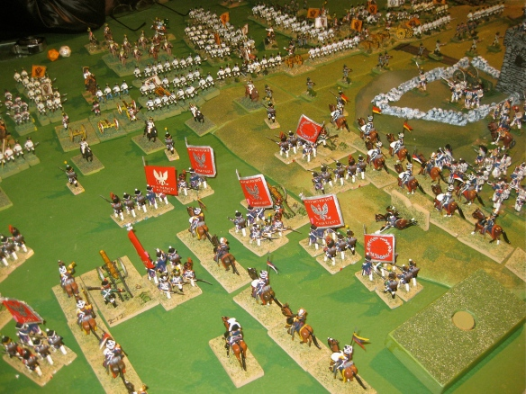 Quiet day for Ty and his Polish Duchy of Warsaw divisions. They played the pinning game against the Austrians of Andy .