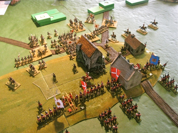 Forward deployment caused immediate clash between the Danish and Russians.