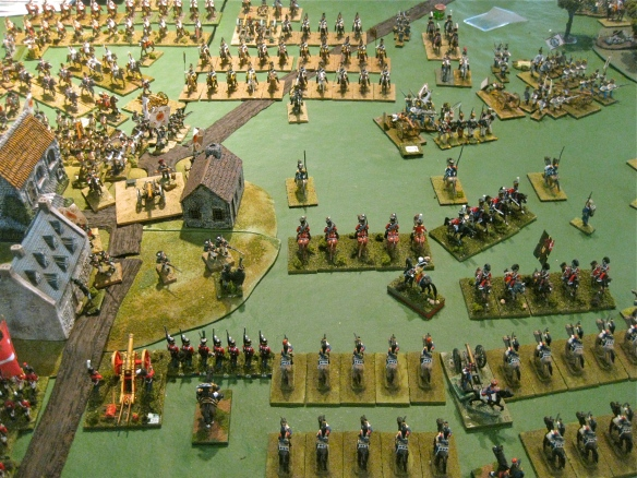 The Danish cavalry overran the one Russian battery then retired before the massed Russian kuirassiers. Seeing massed ranked cavalry, WR brings forth the French cuirassiers.