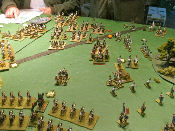 As the dust of battle clears, the Danish cavalry have ripped a wide hole in the Allied front. French cuirassier cavalry ready to exploit the advantage.