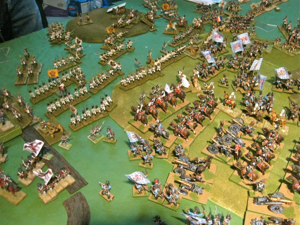 Austrian infantry under Bavarian cavalry charge and caught not in preformed square formation. The resulting morale tests are going to be painful.