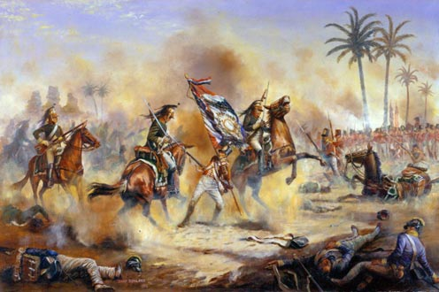 Capture of the 32nd demi-brigade's standard during the battle.