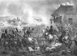 Battle of Gilly 1815 with Napoleon near the Farm Grand Drieu.