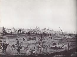 British army in camp while before the wall of Alexandria.