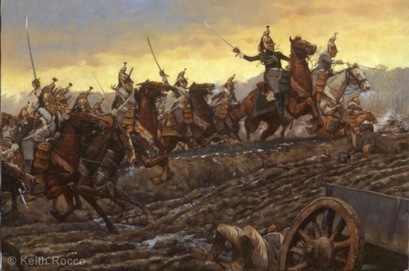 Charge of the Empress dragoons lead by General Letort.