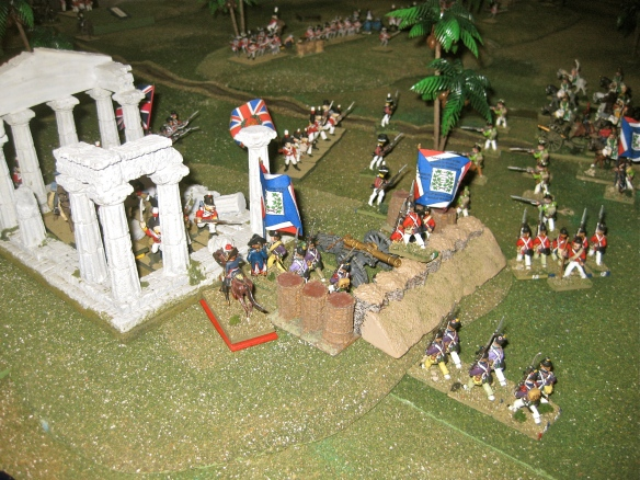 Another DB assault into the actual roman ruins held by the 58th Foot. General Lanusse leads the assault again.