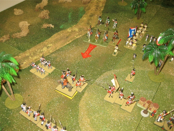 Near the dry canal the French light cavalry (Bron) boldly charge the squared British infantry... what is Daniel thinking?