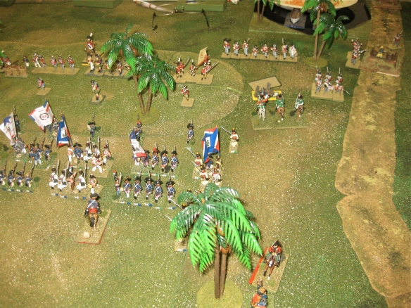 Lucky Daniel, the French 7th Hussars disordered the British square then the 22nd Chasseurs 'a cheval mopped up. the advancing French infantry cheer!