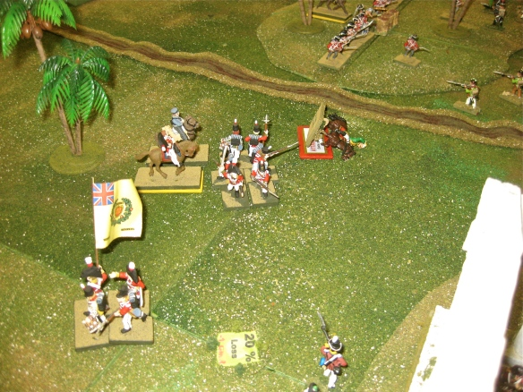 Carrying on the charge, The French dragoon find the steady bayonet wall of the Fusiliers a sterner test. General Roize falls on the British bayonets as his dragoons retire.