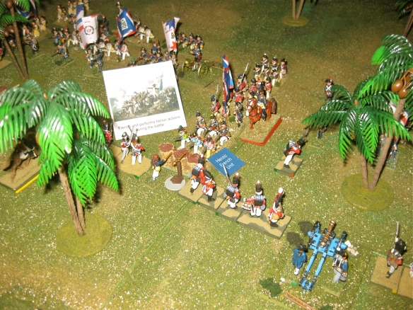 "French form a column, led by their elite converged grenadiers. French CinC Daniel wants a win so the French ""Heroic unit"" event card is played."
