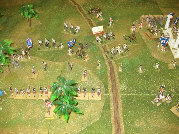 "Back in the ""gap"" the French dragoons reform as their demi-brigade infantry gains ground from the charge."