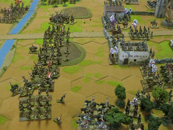 After the Spanish cavalry rode away, the French infantry got down to business.