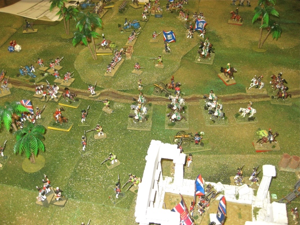 British 4th and 5th Foriegn brigades are in square to recieve the advancing French dragoons... but the Guards haven't been ordered into square.