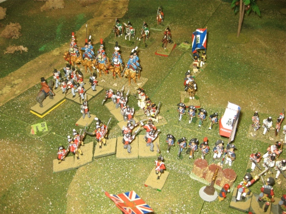 The Dromedaries charge and bounce away from the square's bayonets. Close up of the musketry battle.